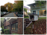 Clockwise from top left: The fall foliage on 16th is delightful, Can we talk about how adorable this little library is? It's one of two I get to browse every day, And this brick apartment building on 16th & Republican is my favorite ever.