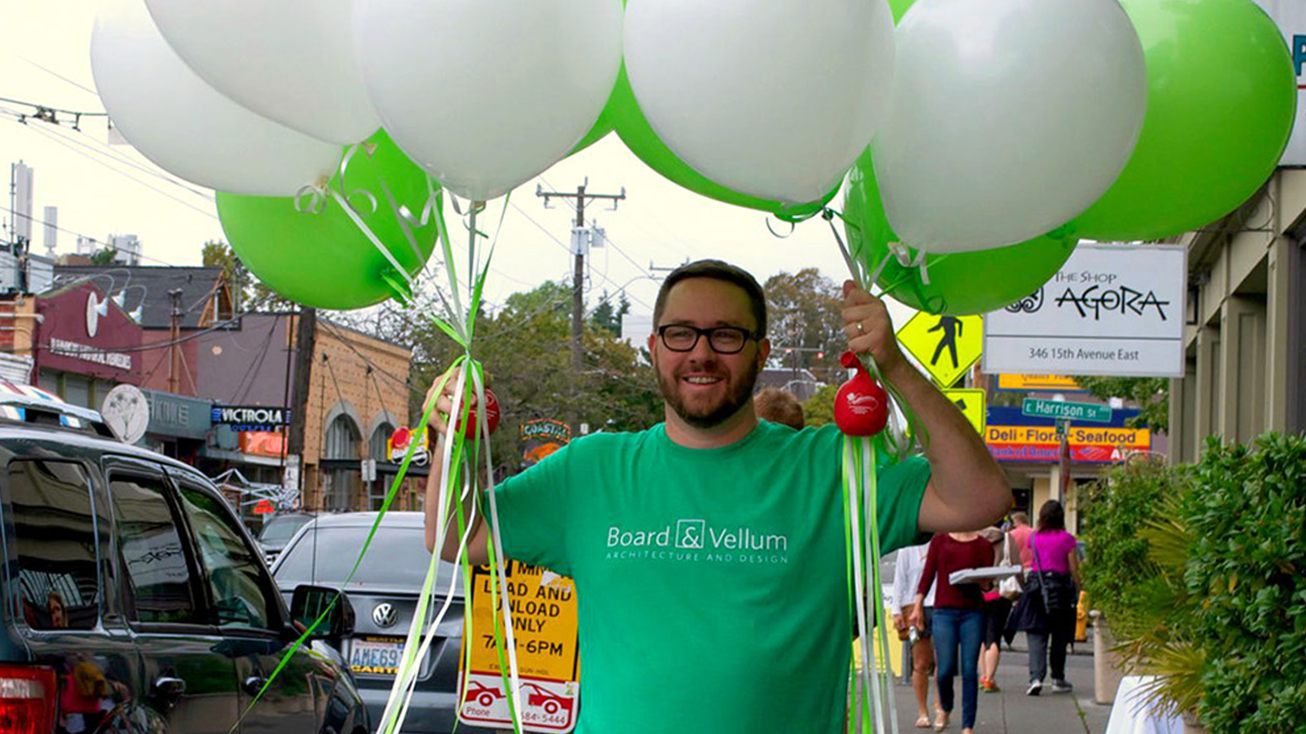 15th Ave. Merchant's Association Street Fest: Jeff Brings the Balloons - Cropped for Featured Image