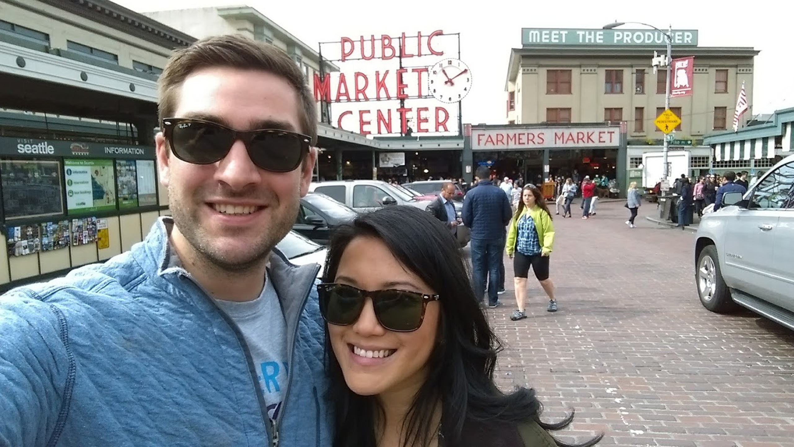 Introducing, Monika Shreves! – Monika and Conor Take a Selfie at Pike Place Market in Seattle