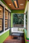Seattle Box Remodel – Board & Vellum – Heated sitting area on the porch.