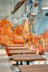 Oasis Tea Zone Capitol Hill – Orange rocket man installation by Electric Coffin. – Retail Café Design