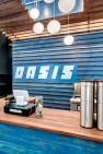 Oasis Tea Zone Capitol Hill – Cut plywood sign. – Retail Café Design