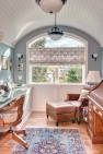 Graceful barrel vault ceiling in the office nook. – Gut and Remodel of a 1960s-era Home – Sound Landing – Board & Vellum