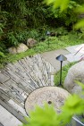 Radial pattern in garden path. – Urban Yard at The Seattle Box – Board & Vellum