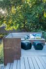 Modern Deck on a Tudor Home – Board & Vellum – Landscape Architecture and Site Design